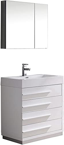 Fresca Bath FVN8030WH Livello 30″ Vanity