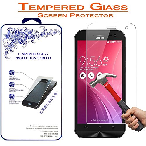Screen Protector,Nacodex for Asus ZenFone Zoom ZX550 5.5 inch Premium Ballistic Tempered Glass Screen Protecto (for Asus ZenFone Zoom ZX550)