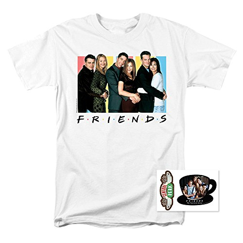 Cast Mens T-shirt - Popfunk Friends Cast T Shirt & Exclusive Stickers (Small)