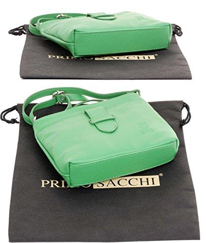 sangle frontale triple réglable sac sangle main en de cuir ou fait Vert italienne sacs transversale petite main compartiment à souple à Primo bandoulière corps Sacchi Pwq6O6v