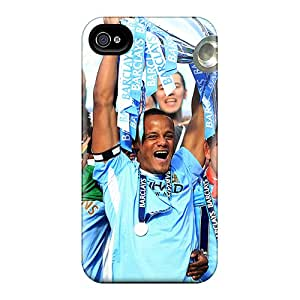New Tpu Hard Case Premium Iphone 4/4s Skin Case Cover(popular Football Club Manchester City)