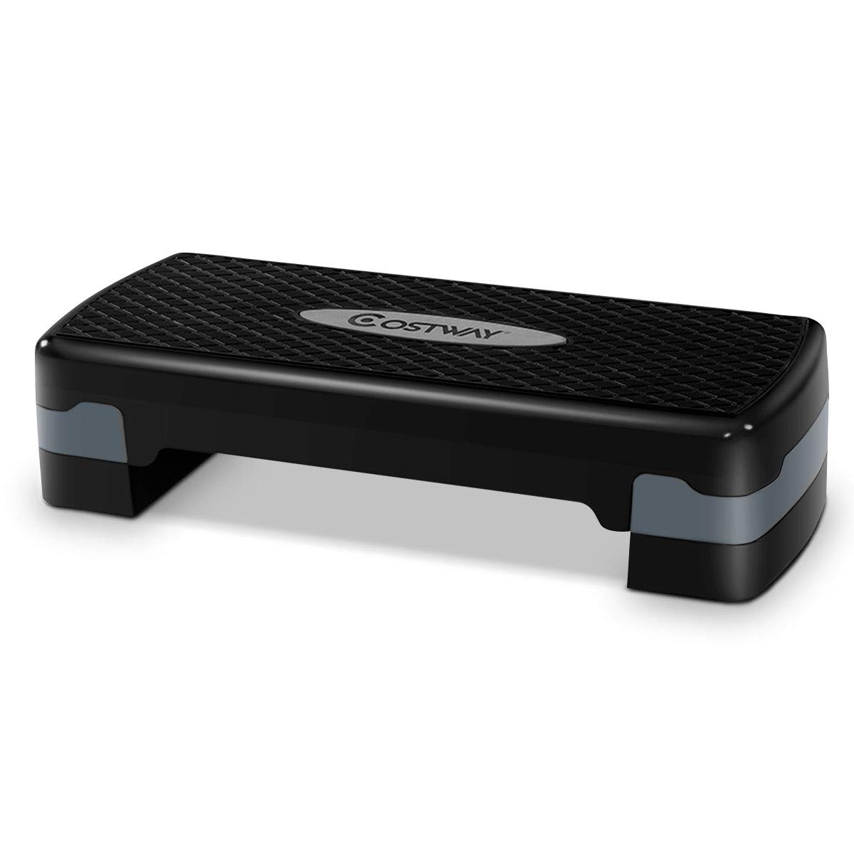 Giantex 27'' Fitness Aerobic Step Exercise Stepper Platform Adjust 4''- 6'' w/Riser by Giantex