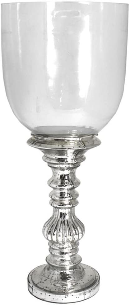 Essential Decor /& Beyond EN14465 13 Inch Glass Candle Holder Clear
