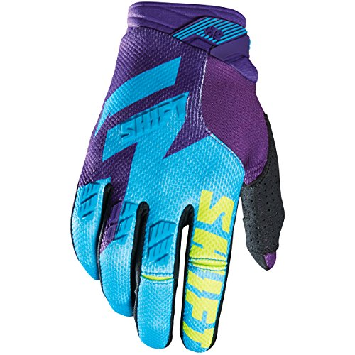 (Shift Racing Faction Men's Off-Road Motorcycle Gloves - Purple/Yellow / 2X-Large)
