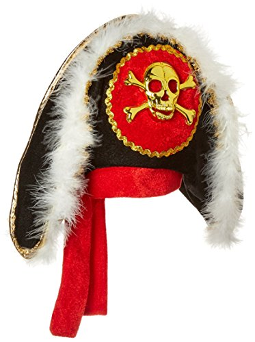 Jacobson Hat Company Pirate Hat with Gold Skull and Crossbones, Black, One Size ()