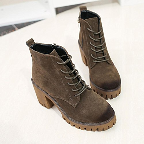 Gillberry Shoes Winter Short Boots Green Martin Womens Booties Boots Army Women Boots Ankle vxwUvqAr