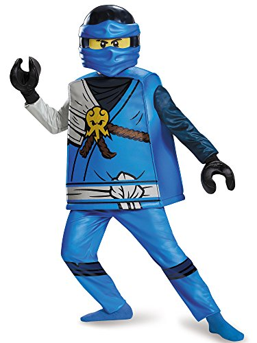Jay Deluxe Ninjago Lego Costume, Medium/7-8 -