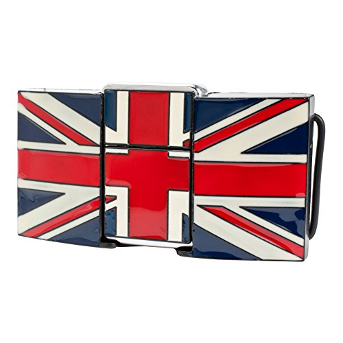 Buckle Rage Adult Unisex Gun Cannon Removable Lighter Belt Buckle UK British Flag (British Flag Belt Buckle)