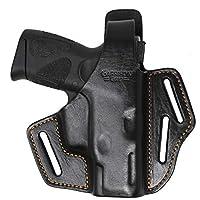 Garrison Grip Premium Full Grain Italian Leather 2 Position Tactical Holster (BLK) Fits Taurus PT111 Gen2