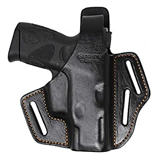Garrison Grip Premium Full Grain Italian Leather 2 Position Tactical Holster Fits Taurus PT111 G2 and G2c (BLK)