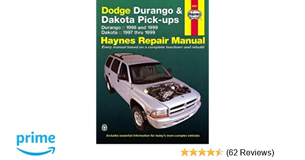 dodge durango 98 99 dakota 97 99 haynes repair manuals haynes rh amazon com 99 Dodge Dakota Repair Manual 99 Dodge Dakota Repair Manual
