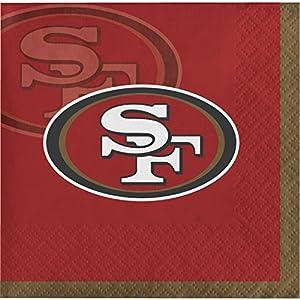 San Francisco 49ers Beverage Napkins, 48 ct