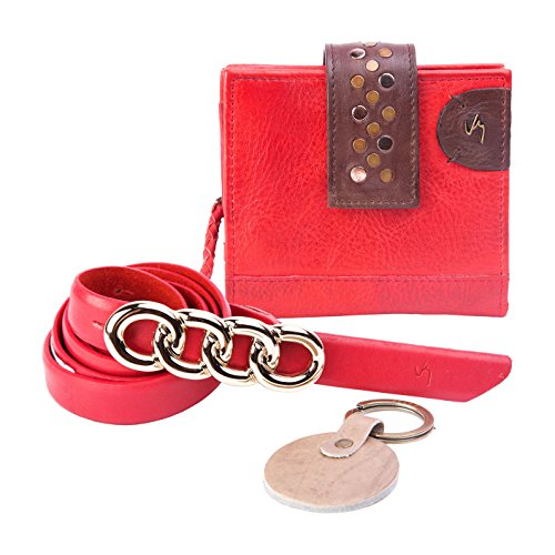 Women Wallet Brand Design Genuine Leather Red Color - 5