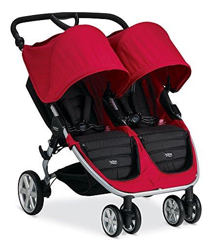 Britax 2015 B-Agile Double Stroller, Red