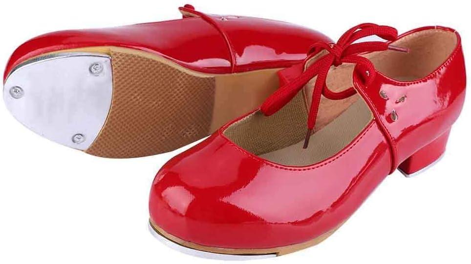 Frauen Low Heel Pu Tap Schuhe Mode M/ädchen Frauen Stepptanz Step Dance PU Kunstleder Schuhe f/ür Tango Salsa Waltz Practice Performance Classic