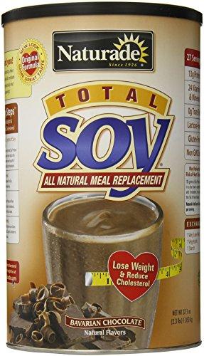 Remplacement Naturade totale de soja d'origine repas en poudre, chocolat bavaroise. , 37,14 oz
