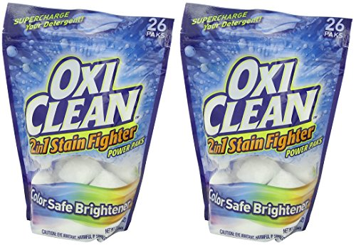 OxiClean 2 in 1 Stain Fighter lUGPEW Power Paks, 26 Count (Pack of 2) by OxiClean