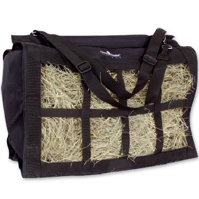 (Classic Rope Company Deluxe Top Load Hay Bag Black )