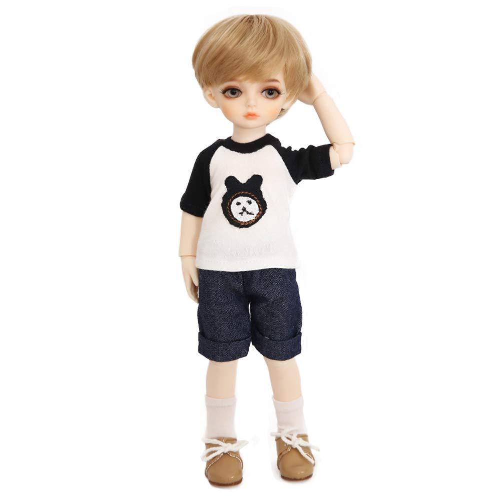 BAOTR BJD Puppe Gold kurzes Haar schön Junge SD 1 6 Eine vollständige Reihe von Joint Puppen kann Kleidung Schuhe Dekoration ändern
