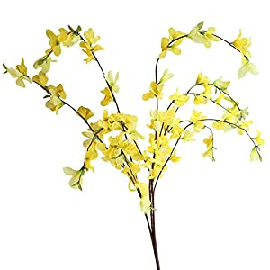 Iusun Artificial Flower Winter Jasmine Leaves DIY Floral Wedding Bouquet Centerpieces Arrangements Party Festival Holiday Home Office Garden Hanging Decorations Valentines Gift Hot Ornament 58