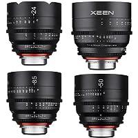 Rokinon Xeen Cine Lens Bundle for Canon EF-Mount - Includes Xeen 24mm T1.5 Cine Lens, Xeen 35mm T1.5 Cine Lens, Xeen 50mm T1.5 Cine Lens, Xeen 85mm T1.5 Cine Lens