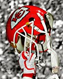 Kansas City Chiefs Helmet Spotlight Photo 8 x 10in