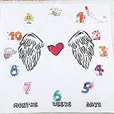 Rainlemon Angle's Wing Baby Boy Girl Photo Blanket Days Months Years Milestone Photo Shoot Backdrop Props