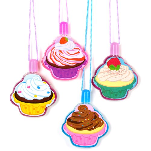 Rhode Island Novelty Cupcake Bubble Necklaces, 12-Pack -