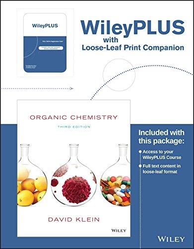 Organic Chemistry, 3e WileyPLUS Registration Card + Study Guide + Loose-leaf Print Companion