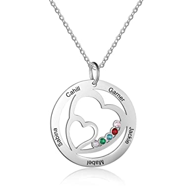 6651bb0efb7a2 Amazon.com: Personalized Family Tree of Life Mothers Pendant with 5 ...