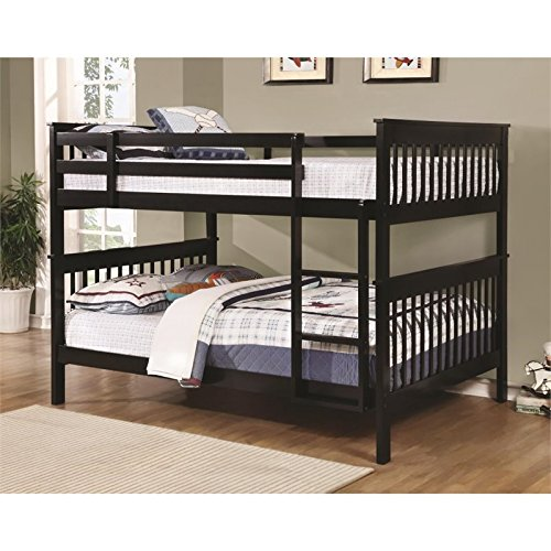 BOWERY HILL Full Over Full Bunk Bed in Black