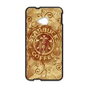 Printed Cover Protector Wavuf Starbucks For HTC One M7 Cell Phone Case Unique Design Cases