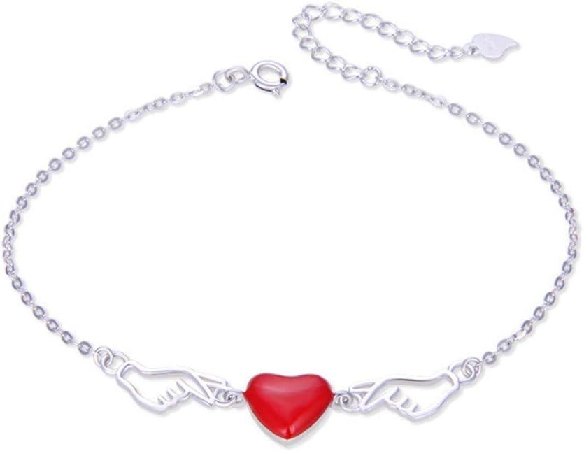 6P6 Día Joyería Romántica De La Manera Dulce Amor Joyas Accesorios De Plata S925 Gota De Aceite Brazalete Amor De San Valentín Mujer