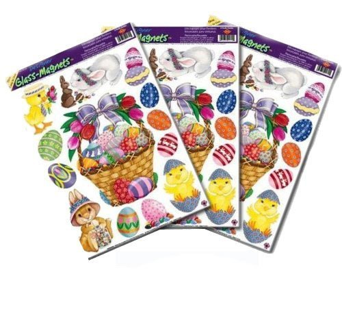 Easter Basket Glass - Window Clings 12in. x 17in. Sheet 1/Pkg (Easter Basket Glass)