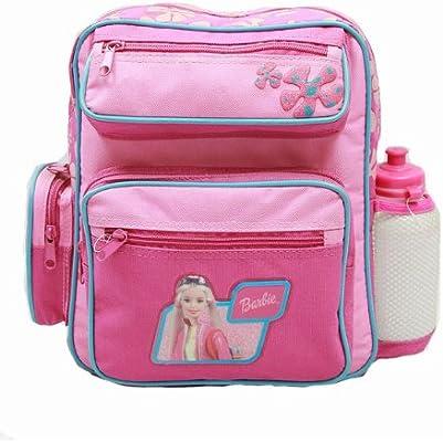 Barbie Small Backpack w/ Water Bottle - Pink New School Bag 15375-2
