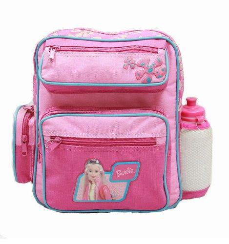 Small Backpack - Barbie - w/ Water Bottle - Pink New School Bag 15375