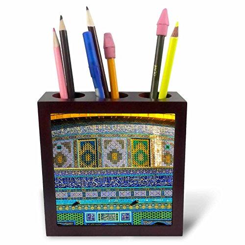 3dRose Danita Delimont - Temples - Mosaics on Dome of the Rock Mosque, Temple Mount, Jerusalem, Israel. - 5 inch tile pen holder (ph_276861_1) (Jerusalem Tile)