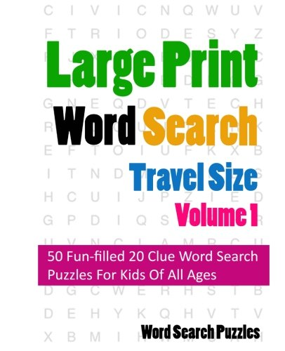Large Print Word Search Travel product image