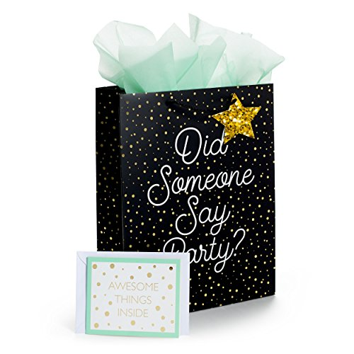 Tri-Coastal Design Gift Bag Set All Occasion Includes 1 Gift Bag Tissue Paper and Gift Card Did Someone Say - Boutique Tri