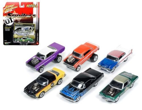 New 1:64 AUTO WORLD JOHNNY LIGHTNING COLLECTION - STREET FREAKS RELEASE 1B Diecast Model Car By Auto World Set of 6 Cars 1958 Ford Galaxie