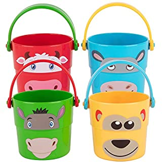 Baby Stacker Buckets - Mix and Match Each Pale to Create New Animals - Great for The Park, Beach, Pool, and Backyard