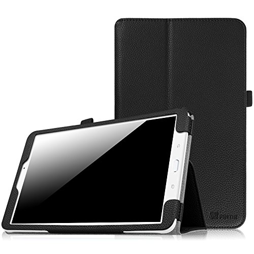 Fintie Folio Case for Samsung Galaxy Tab E 9.6 - Slim Fit Premium Vegan Leather Cover for Tab E/Tab E Nook 9.6-Inch Tablet (SM-T560/T561/T565 & SM-T567V Verizon 4G LTE Version), Black