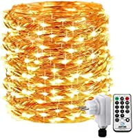 Qedertek Luci Albero di Natale Catena Luminosa 20M 200 LED