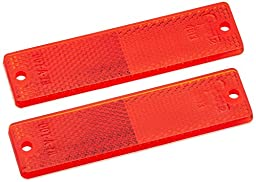 Grote 40132-5 Red Mini Stick-On / Screw-Mount Rectangular Reflectors (Pair Pack)