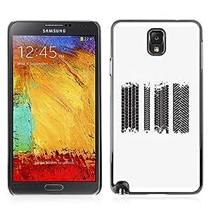 Carcasa Funda Case // V0000700 Tire Tracks Vector Set // Samsung Galaxy Note 3 N9006