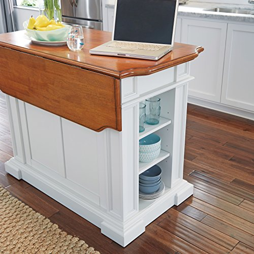Home Styles 5002-94 Kitchen Island, White And Distressed