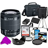 Professional Accessory Kit with Canon EF-S 18–55mm f/3.5–5.6 IS STM Lens & SanDisk 32GB Class 10 Memory + Canon 100ES Shoulder Bag + Bundle Package for Canon EOS Rebel SL1 Digital SLR Camera