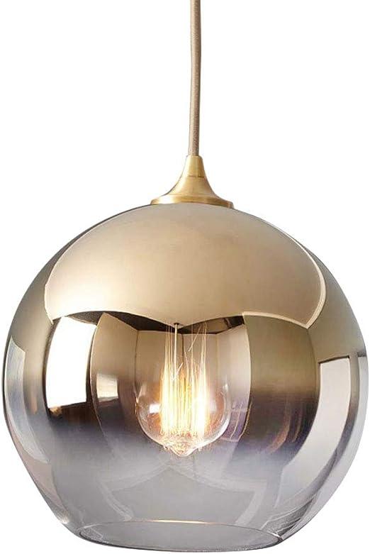 HONGOU LIGHT Lámpara Colgante Moderna de Cristal Esfera Forma ...