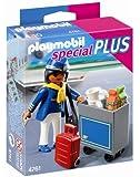 Playmobil - 4761 - Jeu de Construction - Hôtesse de l'air avec Chariot de Service