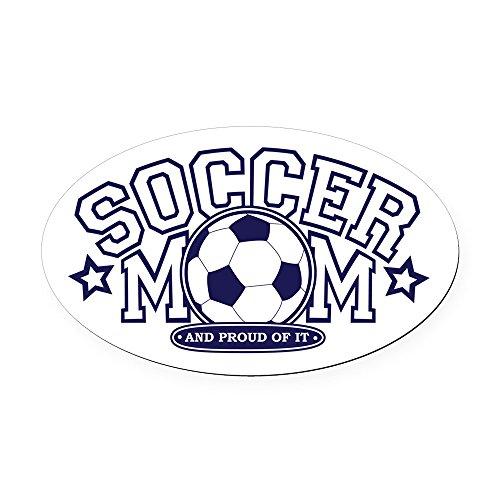 CafePress - Soccer Mom Oval Car Magnet - Oval Car Magnet, Euro Oval Magnetic Bumper Sticker